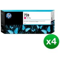 HP 728 300-ml Magenta DesignJet Ink Cartridge (F9K16A)(4-Pack)