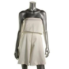 Keepsake Womens Keep Watch Strapless Mini Cocktail Dress