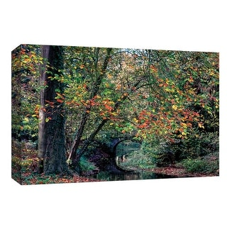 """PTM Images 9-148315  PTM Canvas Collection 8"""" x 10"""" - """"Beech & Bridge"""" Giclee Forests Art Print on Canvas"""