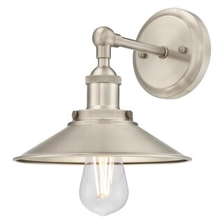"""Westinghouse 6335700 MAGGIE Single Light 8-9/16"""" Tall Wall Sconce with Brushed N - Brushed nickel"""