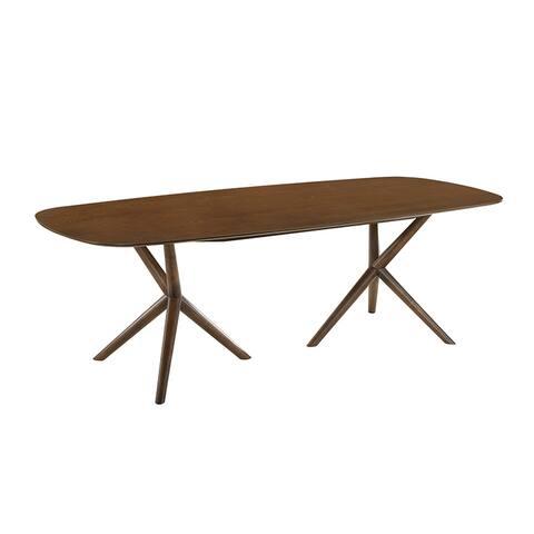CALICO dining table in walnut veneer.