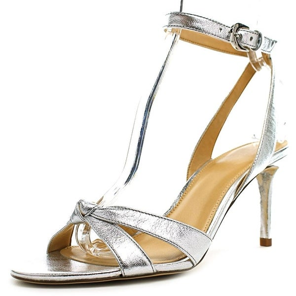 Michael Michael Kors Maxwell Mid Sandal Women Silver Sandals