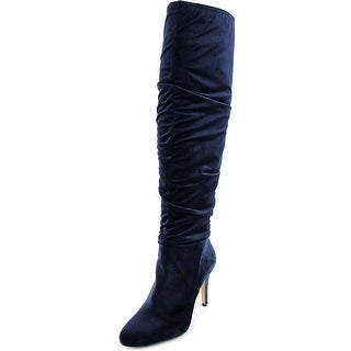 INC International Concepts Thalis Women Round Toe Canvas Blue Over the Knee Boot