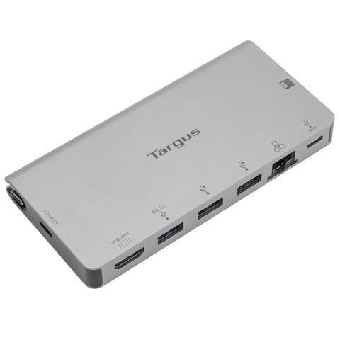 Targus USB-C DP Alt Mode Single Video 4K HDMI Docking Station with Card Reader, 100W PD Pass-Thru - DOCK414USZ - Silver