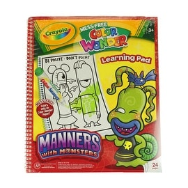 Crayola Mess Free Color Wonder Learning Pad, Manners With Monsters
