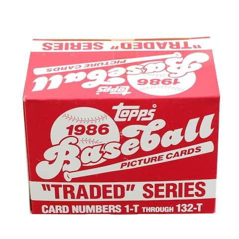 MLB 1986 Topps Baseball Traded Series - Set of 132 Cards - Multi
