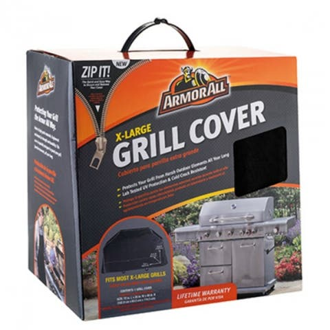 "Armor All 07802AA X-Large Grill Cover with Zip It, 72"" x 25"" x 45"""