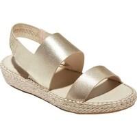 16b85c12c7 Cole Haan Women's Cloudfeel Espadrille Sandal Soft Gold Metallic/Natural  Jute