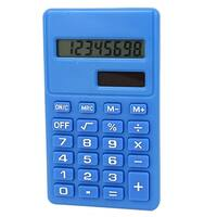 LCD Display Portable Small Pocket Electronic Calculator Light Blue