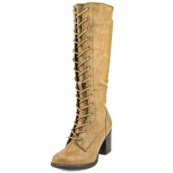 Nine West Beasley 3Y Women Round Toe Synthetic Brown Knee High Boot