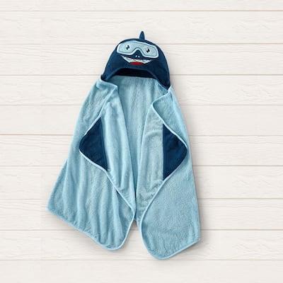 Style Quarters hooded towel-shark
