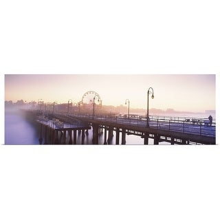 """""""Pier with ferris wheel in the background, Santa Monica Pier"""" Poster Print"""