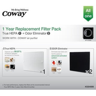 Coway AP-1512HH-FP Mighty Carbon and HEPA Replacement Filter Pack
