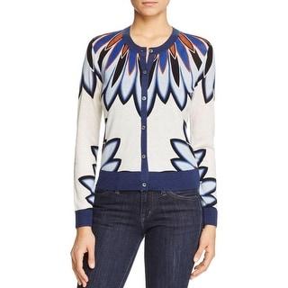 Tory Burch Womens Sawyer Cardigan Sweater Wool Silk - m