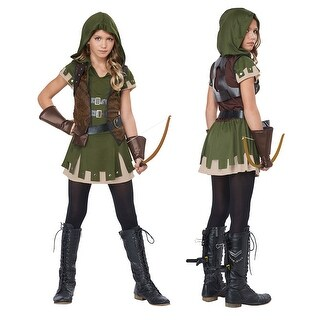 Tween Miss Robin Hood Halloween Costume (3 options available)
