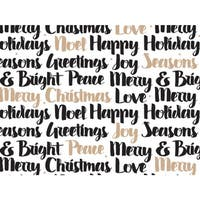 """Golden Holiday Wishes 24""""x85' Roll Gift Wrap"""