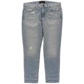 Genetic Womens Alexa Distressed Slim Fit Boyfriend Jeans