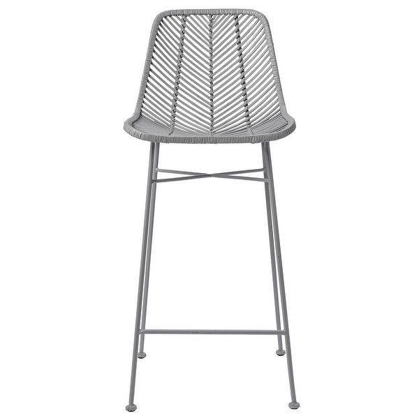Rattan Bar Stool with Metal Frame. Opens flyout.