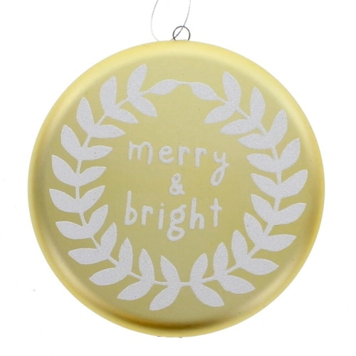 Gold Merry and Bright Ornament
