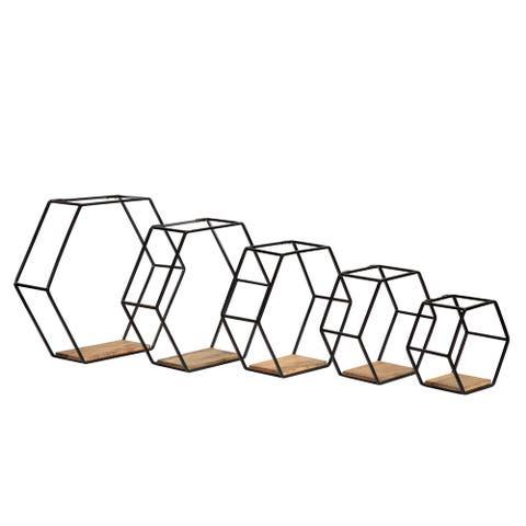 "Haverstock Set of 5 Shelf Black (5.25"" L x 18.25"" W x 16.25"" H)"