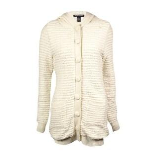 INC International Concepts Women's Faux-Fur Knit Cardigan - Buttercream