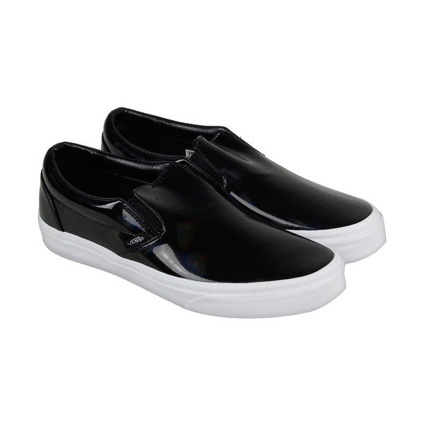 e0b07b16a7b118 Shop Vans Classic Slip On Mens Black Patent Leather Slip On Sneakers ...
