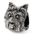Sterling Silver Reflections Yorkshire Terrier Head Bead (4mm Diameter Hole) - Thumbnail 0