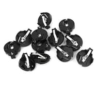 Unique Bargains 12 x Black Plastic CR2032 Cell Button Battery Socket Holder Connector Case