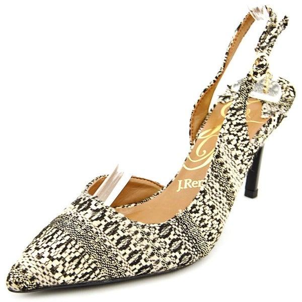 J. Renee Lacee Women W Pointed Toe Canvas Slingback Heel