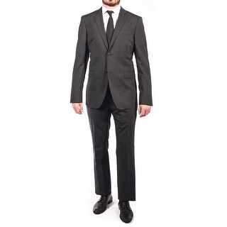 Pierre Balmain Wool Two Button Suit Dark Grey