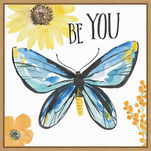 Beautiful Butterfly III by Sara Zieve Miller Framed Canvas Art