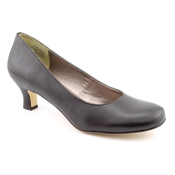 Array Flatter Women W Round Toe Leather Brown Heels