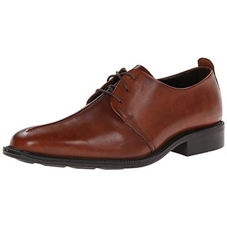 Cole Haan Mens Cain Leather Square Toe Derby Shoes - 11.5 medium (b,m)