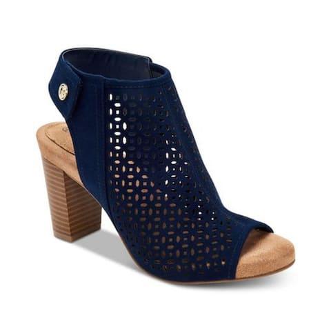 Giani Bernini Women's Joiseyy Peep Toe Ankle Wrap Classic Blue Size 6.5