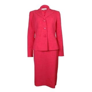 Evan Picone Women's City Chic Notched Lapel Skirt Suit