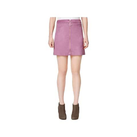 Kensie Womens Mini Skirt A-Line Front Zip