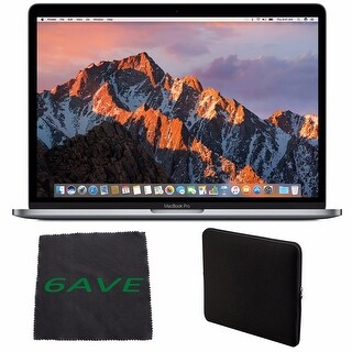 Apple MacBook Pro 13.3-inch Laptop (Intel Core i5, 256GB Retina Display), Space Gray Spanish Keyboard + Padded Case Bundle