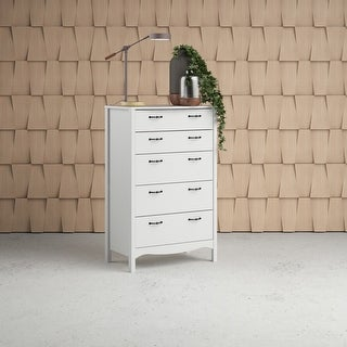 Link to Copper Grove Schwartau White 5-drawer Chest Similar Items in Bedroom Furniture