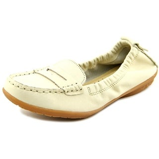 Hush Puppies Katherine Ceil Women Round Toe Leather White Loafer