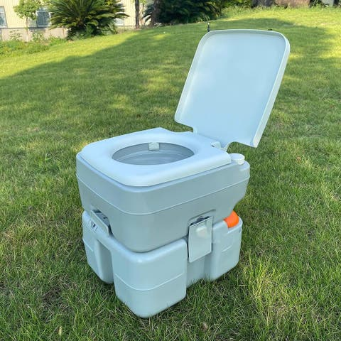 Removable Outdoor Portable Toilet for Camping - White