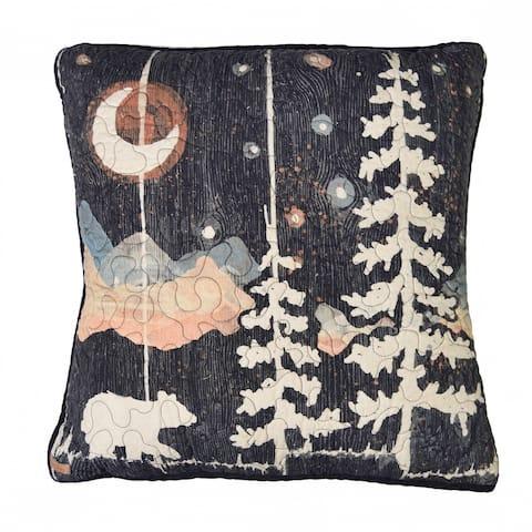 Donna Sharp Moonlit Bear Square Decorative Pillow