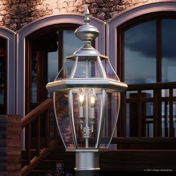 shop luxury colonial outdoor post light 21 h x 11 w with tudor