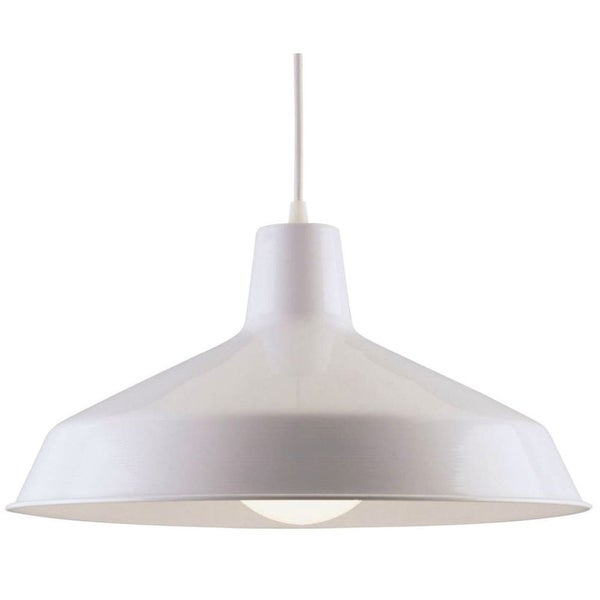 Westinghouse 66198 1-Light Warehouse Down Lighting Pendant - White - n/a