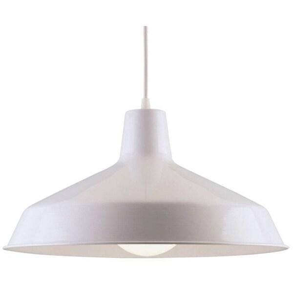 Westinghouse 66198 Single Light Warehouse Down Lighting Pendant - White