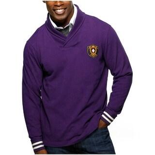 Argyle Culture Mens Shawl Collar Rugby Shirt Medium M Purple Argyleculture