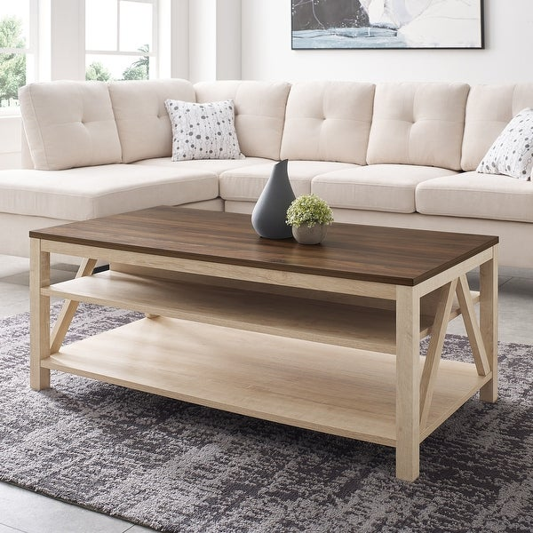 The Gray Barn Paradise Hill A-Frame Coffee Table. Opens flyout.