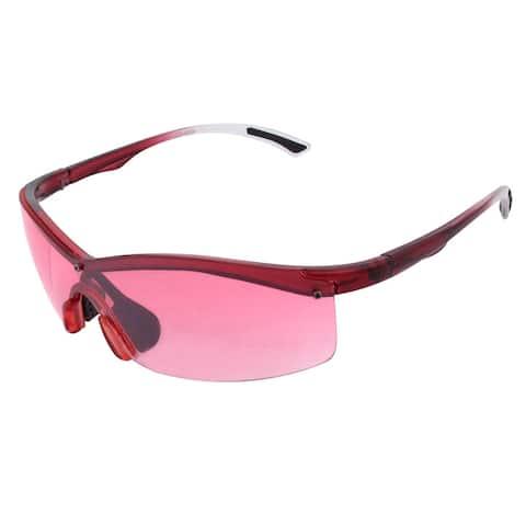 Outdoor Half Frame Red Lens Nose Pad Eyes Protecter Eyewear Sunglasses