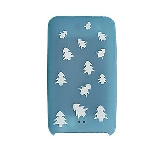Unique Bargains White Pine Tree Blue Silicone Skin for iPod Touch II 2G