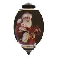 "7"" Ne'Qwa ""Merry Christmas 2014"" Hand-Painted Glass Christmas Ornament #7141100 - multi"