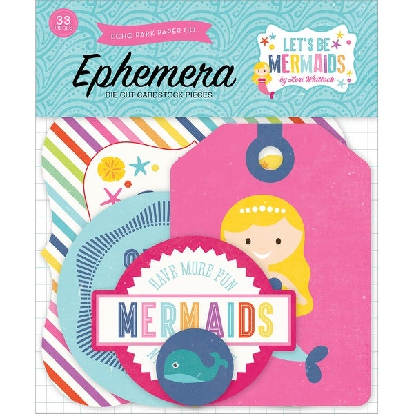 Let's Be Mermaids Ephemera Cardstock Die-Cuts-